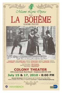 Miami Lyric Opera La Boheme